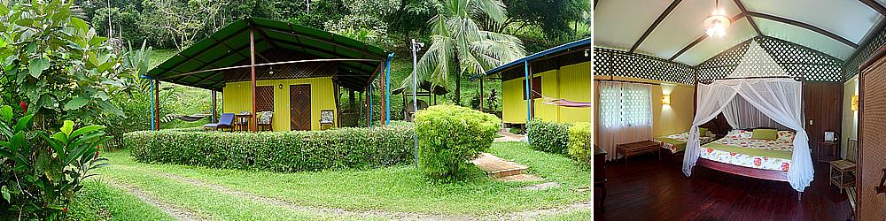 Die Adventure Lodges sind kleine Cabañas inmitten des Regenwaldes