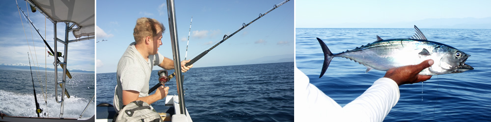 Fish for Tuna, Mahi Mahi, Mackerel and Snapper on an exciting fishing trip in Costa Rica's south Pacific.