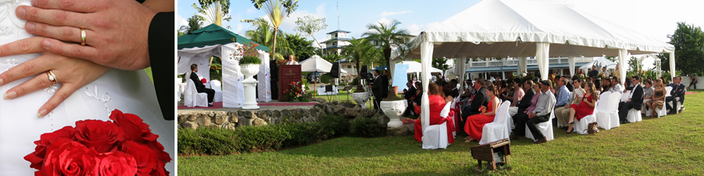 Tropical weddings at Hotel Cristal Ballena.