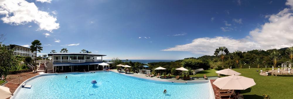 Hotel Cristal Ballena Pool Area Panoramic View